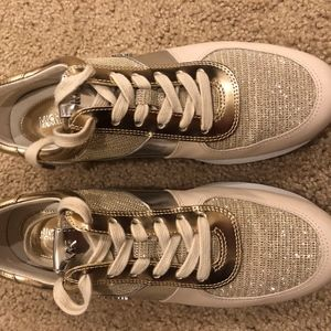Allie Trainer Glitter Chain Mesh Sneakers